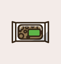 Nut bar snack in organic package vector