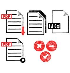 PDF icon vector