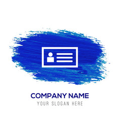Personal id card icon - blue watercolor background vector