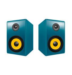 Photo realistic audio speakers in vector