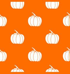 pumpkin pattern seamless vector image