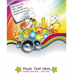rainbow music event flyer vector image