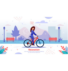 relaxation and outdoor recreation banner vector image