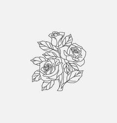 rose icon linear vector image