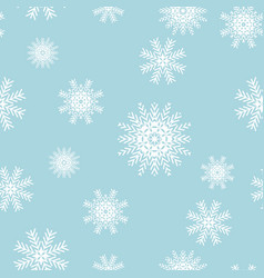Seamless snowflakes for winter and christmas theme vector