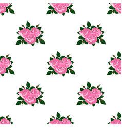 seamless wallpaper pink roses vector image