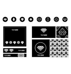 Set diamond new ads vector