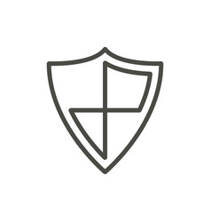 shield protection icon line security symbo vector image