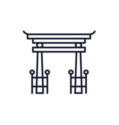 Shinto tori gate design vector