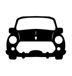 silhouette of car front view vector image