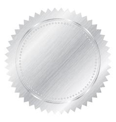 Silver seal vector