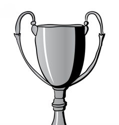 Silver Winners Cup vector
