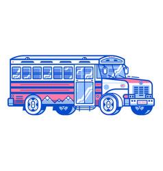 ski shuttle bus icon vector image