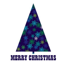 snowflake pattern christmas tree vector image