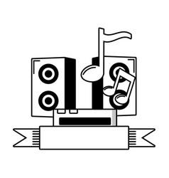 sound speaker music vector image