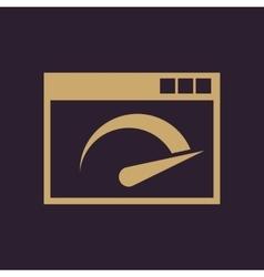 Speed internet test icon design Speed vector image
