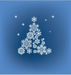 Stylized silhouette Christmas tree formed vector