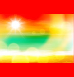 summer sea sunset with the sun light on lens vector image