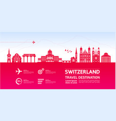 switzerland travel destination vector image
