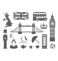 Symbols of England and London vector image