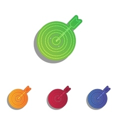 Target with dart Colorfull applique icons set vector image