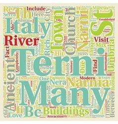 Terni Umbria text background wordcloud concept vector