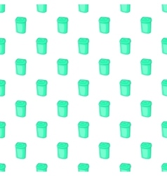 Turquoise trash can pattern cartoon style vector