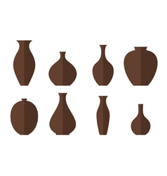 Vase Icon set vector