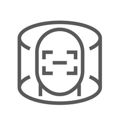 virtual reality and augmented reality line icon vector image