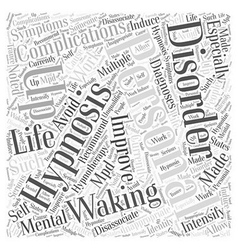 Waking up to Improve Personal Life Word Cloud vector