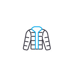 Waterproof jacket thin line stroke icon vector