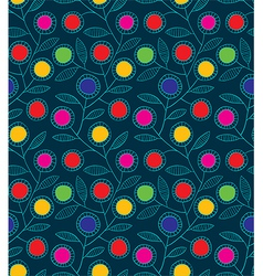 Abstract colorful floral seamless background vector image vector image
