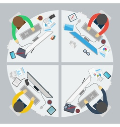 Flat design style of business meeting vector image