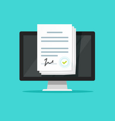online electronic documents on laptop vector image