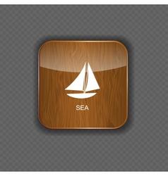 Sea wood application icons vector image vector image