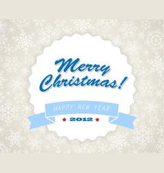 simple blue vintage retro christmas card vector image