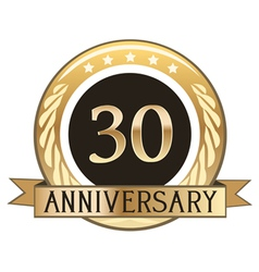 Thirty Year Anniversary Badge vector image