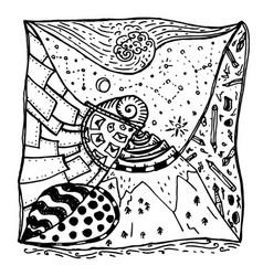 zentangle decorative drawing vector image vector image