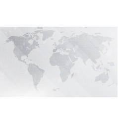 abstract light grey world map background digital vector image