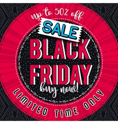 Black friday sale banner on color patterned backgr vector image