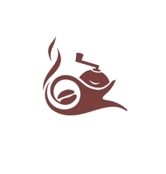 Coffee maker sign vector image vector image
