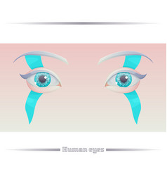 human eyes on a colored background vector image