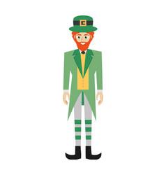 leprechaun character symbol patricks day vector image vector image