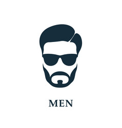 men in sunglasses style haircut and beard icon vector image
