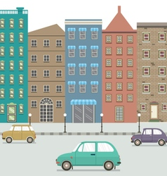 Three Type Of Cars In The City vector image vector image