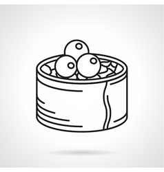 Black line icon for sushi roll vector image