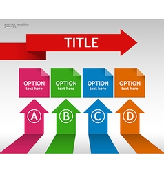 Business infographic template with options and tit vector