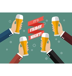 Friday Night Party celebration vector image