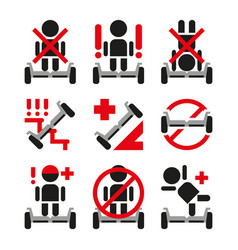 gyroscooter icons collection vector image