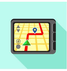 navigator icon flat style vector image